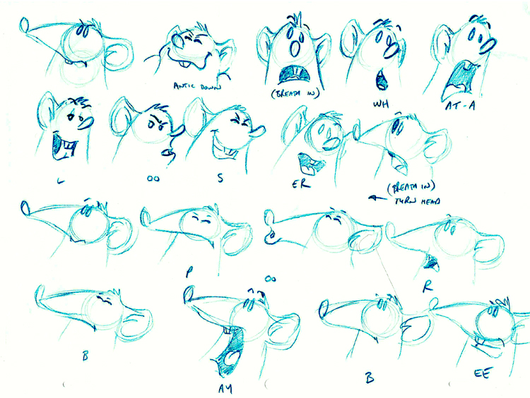 Character Design Process Drawing : Lip sync and character animation