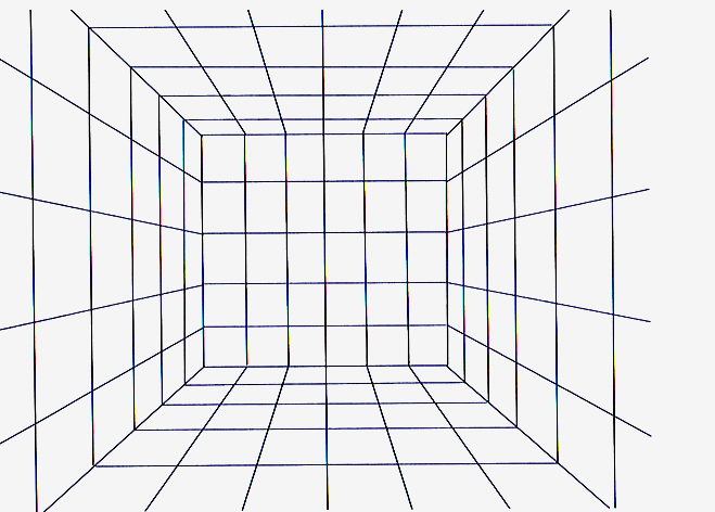 Perspective grids for Room design template grid