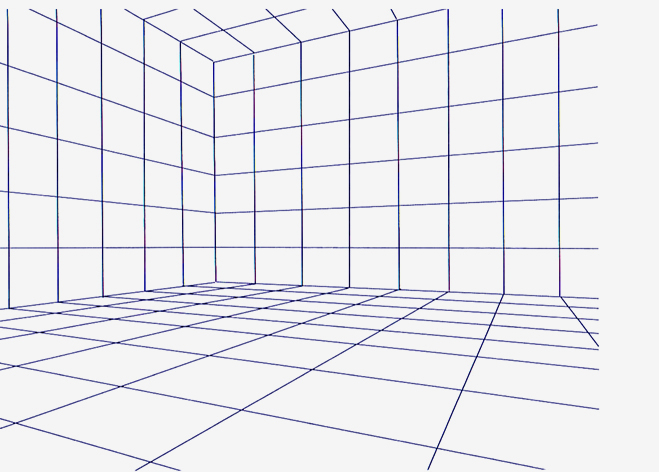 Two point perspective grid images for Room design template grid